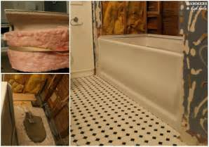 hammers and high heels soak tub installed onto