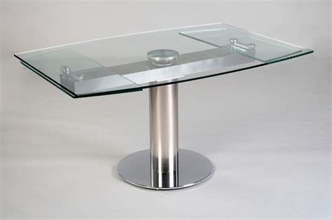 Expandable Glass Dining Tables Expandable Glass Dining Table