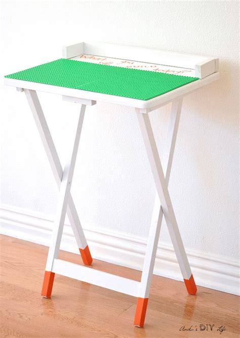 diy portable lego table decor diy inspiration portable diy lego table an tv table makeover never looked so