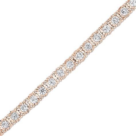 1 Ct Tw Tennis Bracelet by 1 Ct T W Tennis Bracelet In 14k Gold