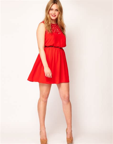 Asos Lace Back Courts by Asos Skater Dress With Lace Back In Lyst