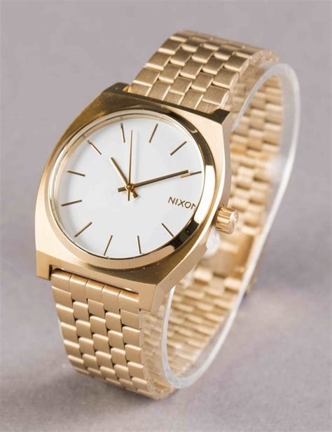 nixon time teller gold white nixon from iconsume uk