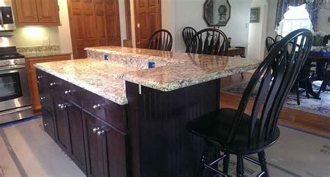 kitchen island countertop overhang granite brackets hidden countertop brackets and