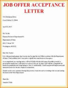 Job offer acceptance letter job offer acceptance letter 6 job offer