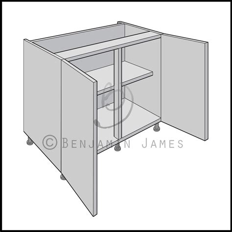 Kitchen Sink Base Unit Carcass Kitchen Carcass Unit Hi Line Sink Hob Base Cabinet 18mm Back 100 Colours Ebay