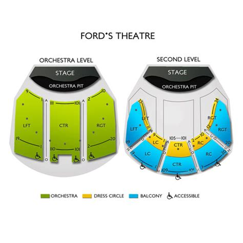 Ford Theater Tickets by Fords Theatre Seating Chart Seats