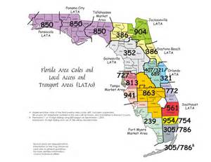 florida area code map florida area codes map images