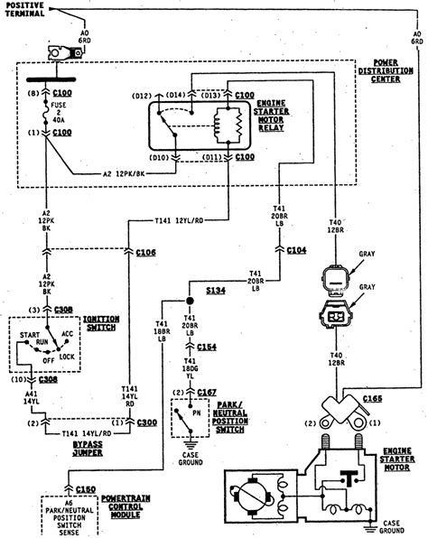 jeep tj ignition switch wiring diagram free