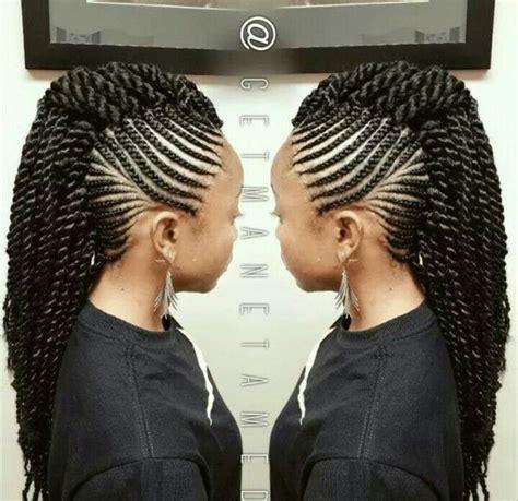 Correctt Braids   mohawk senegalese twist braids more pinterest