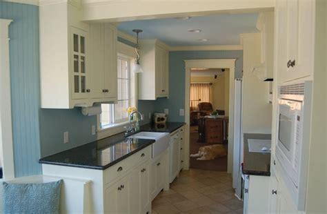 white craftsman galley style kitchen craftsman style