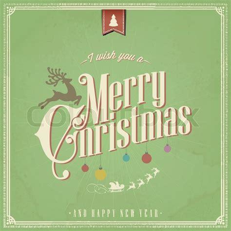 merry christmas  happy stock vector colourbox