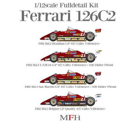 Ferrari 126 C2 1982 early season, 1:12, K433 K436, 4