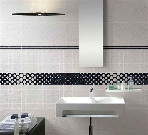 white tile bathroom designs simple black and white bathroom tile for backsplash usage