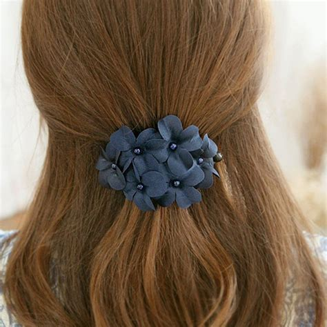 Handmade Flower Hair - new lovely chic handmade flower banana barrette hair
