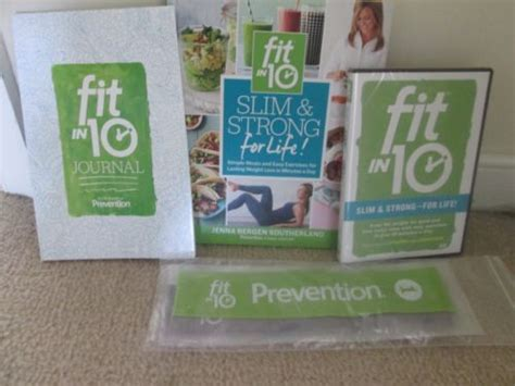 fit in 10 slim strong for simple meals and easy exercises for lasting weight loss in minutes a day books new fit in 10 slim strong complete set 4 dvds journal