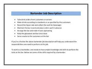 how to write the best bartender description and get