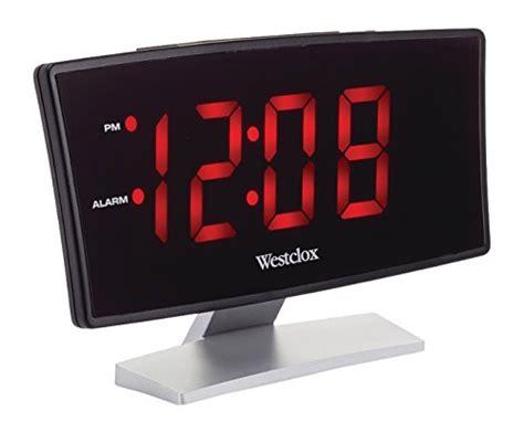 westclox curved screen large readout alarm clock