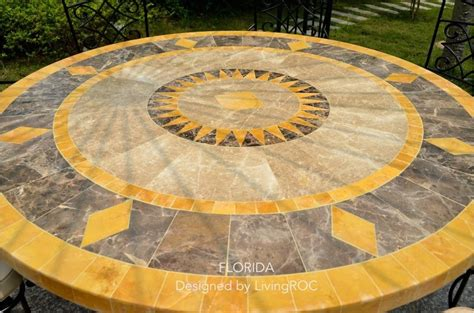 mosaic patio table top replacement garden patio pavers top view stock photo jpldesigns