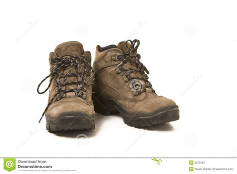 used shoes used hiking shoes stock image image of isolated object