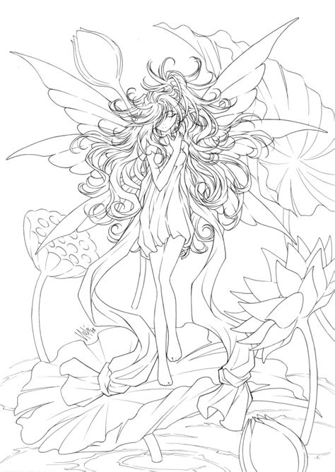 free coloring pages of anime fairies