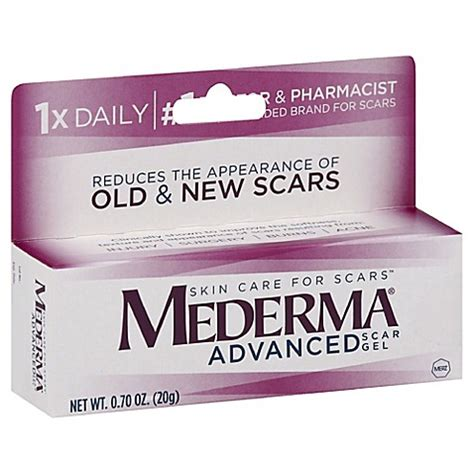 mederma advanced scar gel 7 oz mederma 174 7 oz advanced scar gel bed bath beyond