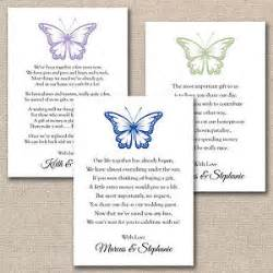 50 x diy butterfly wedding poem cards for your invitations money gift ebay
