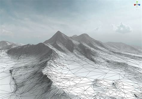 mountain models snow mountain 3d model game ready fbx cgtrader com