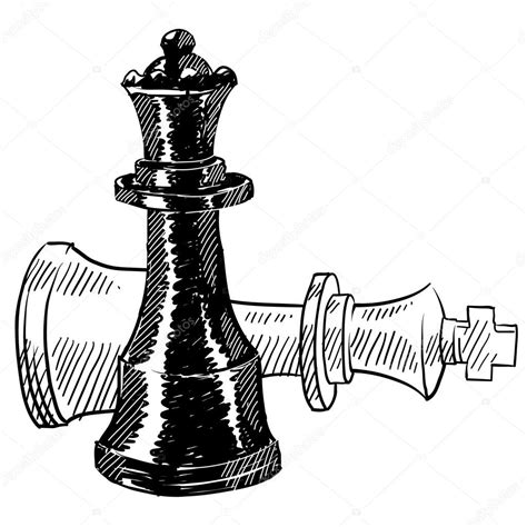 chess pieces sketch stock vector 169 lhfgraphics 13981819
