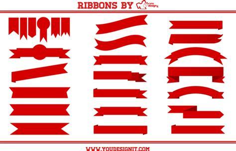 logo ribbon vector free vector ribbons freebies ribbon designs