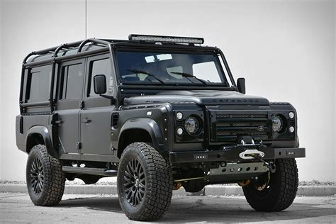 the land rover defender and chevrolet corvette are two of