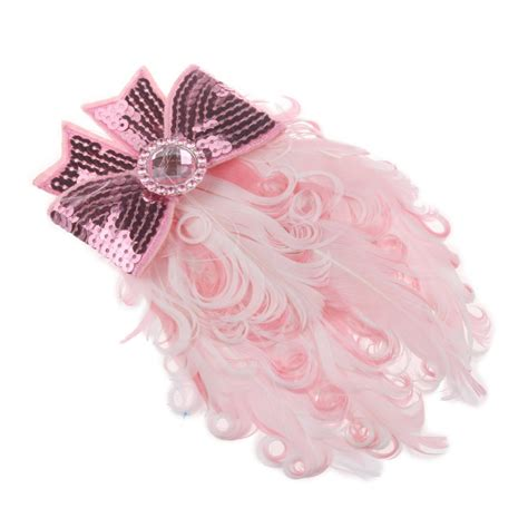 baby pink feather headband hair bows new pink lovely peacock feather with bow cotton baby