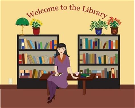 library clipart images library clipart image librarian in the library with lots