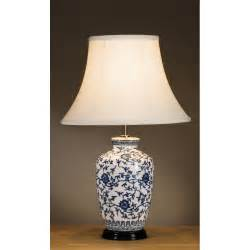 Oriental Style Blue And White Ginger Jar Lamp A Classical