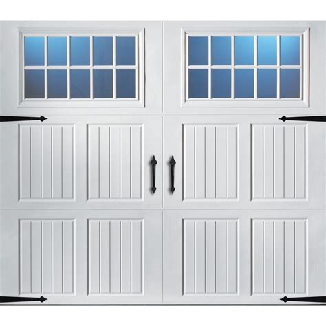 Shop Pella Carriage House Series 8 Ft X 7 Ft Insulated 7 Ft Garage Door