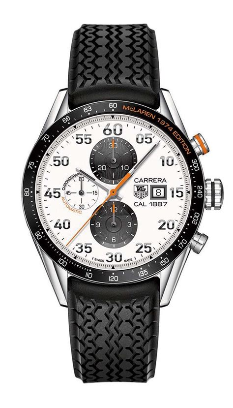 Tag Heuer Mclaren Rosegold White racing watches f1 inspired styling and swiss precision