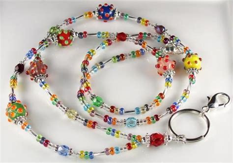 how to make a beaded lanyard beaded lanyard carnival glass beaded id badge curlynetto