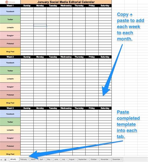 How To Build A Social Media Editorial Calendar Coschedule Social Media Editorial Calendar Template Excel
