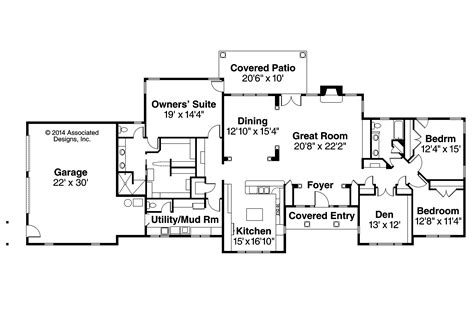 Ranch House Floor Plan by Ranch House Plans Parkdale 30 684 Associated Designs