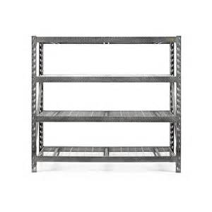 metal shelving lowes shop gladiator 72 in h x 77 in w x 24 in d 4 tier steel