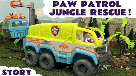 paw patrol boat episode paw patrol jungle rescue episode with play doh fun stop