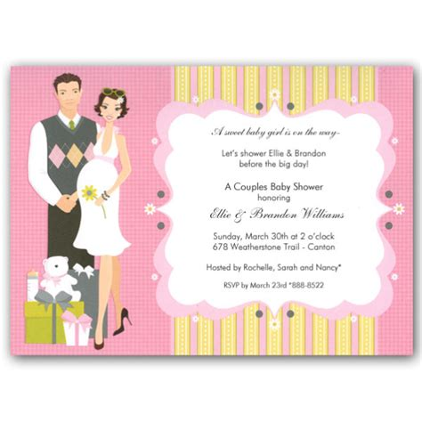 Baby Shower For Couples by Happy Pink Baby Shower Invitations Clearance
