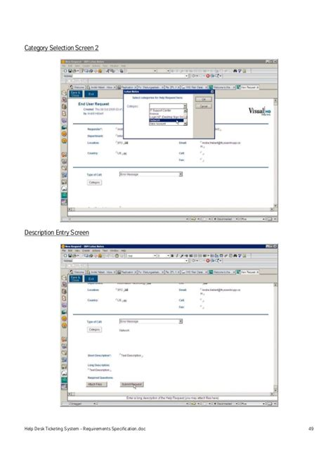 Help Desk Ticketing Systems by Help Desk Ticketing System Requirements Specification