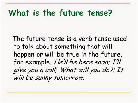 tenses present tense past tense future tense illustrated books grammar solution what is the future tense