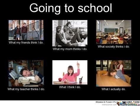Going Back To School Meme - going to school by haroun16 meme center