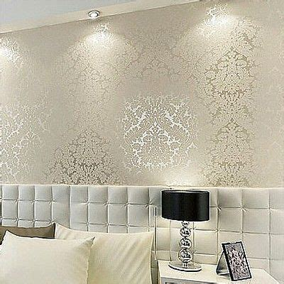 wall paper for room floral textured damask design glitter wallpaper for living