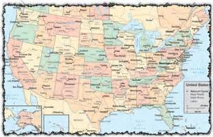 map of america states and cities united states vector map