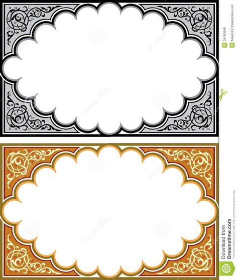 set of arabesque pattern frame border set of arabesque borders stock vector image of leaf