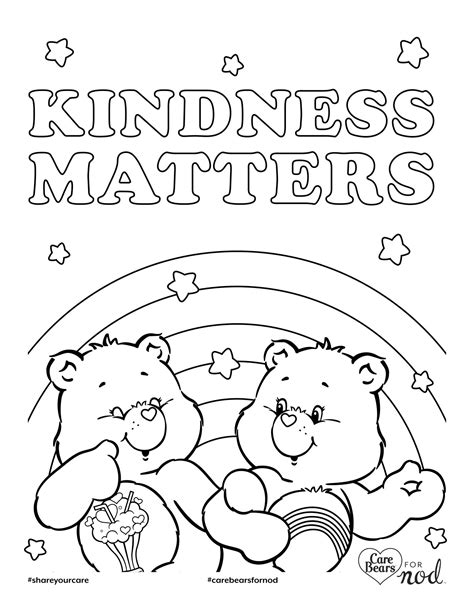 Share Your Care Day Printable Care Bears Coloring Pages | share your care day printable care bears coloring pages