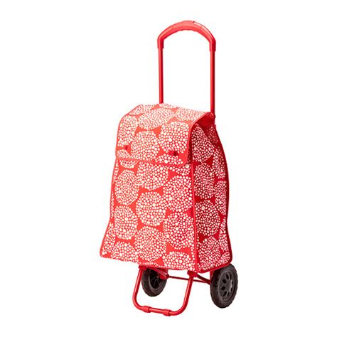ikea shopping bag knalla shopping bag with wheels red white ikea