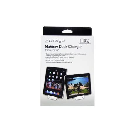 charger for ipad2 cirago ipa5000 nuview dock charger for ipad2